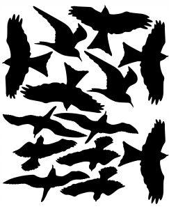 naklejki na szyby ptaki
