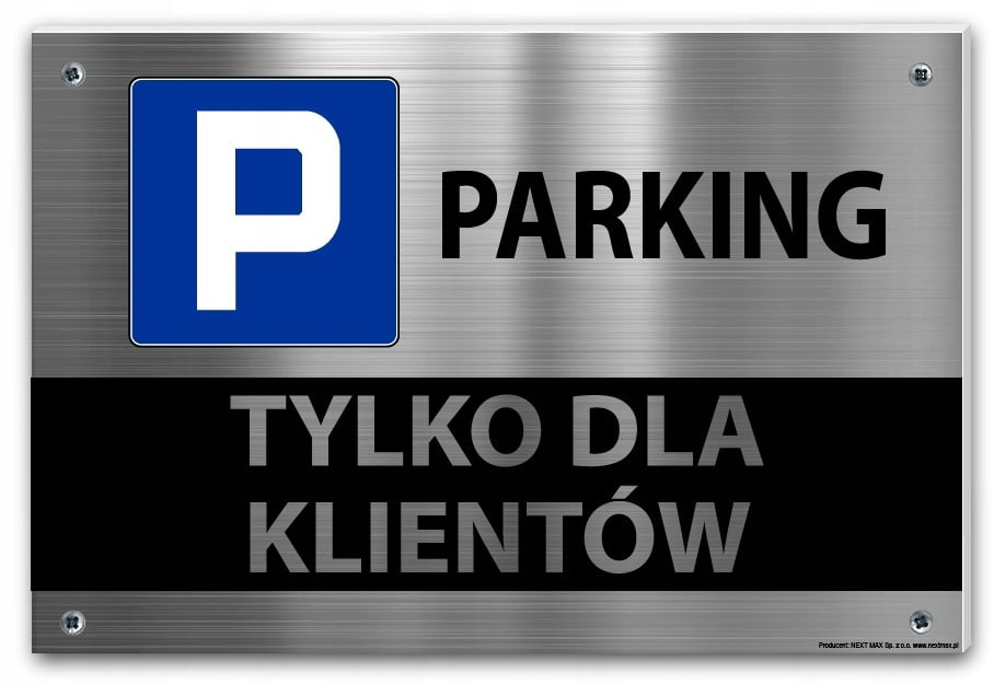 tabliczka parking dla klientów