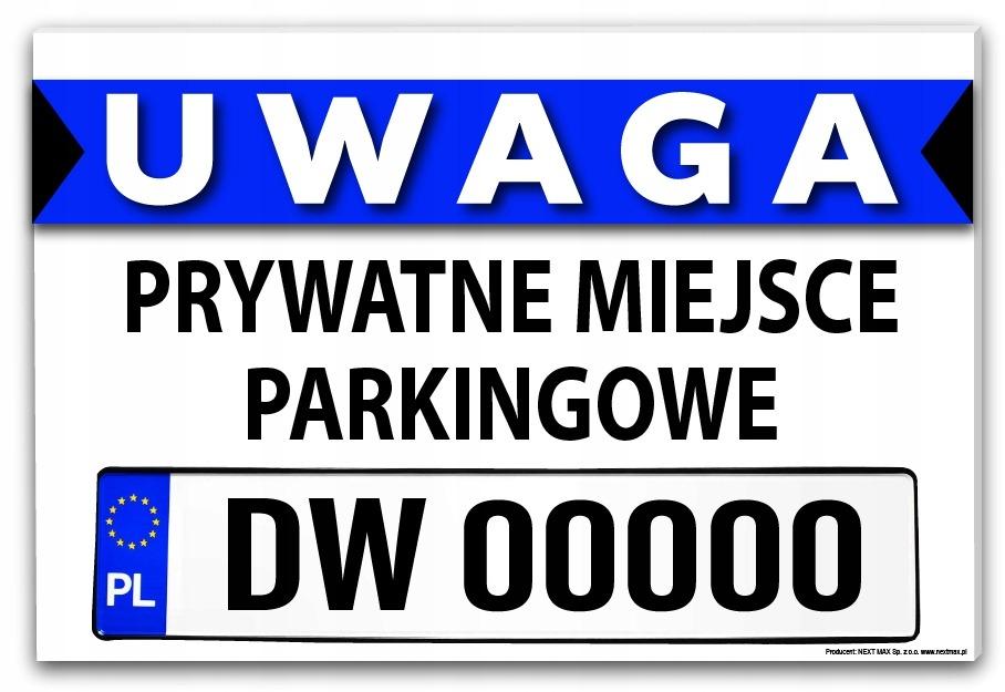 tabliczka miejsce parkingowe twój numer