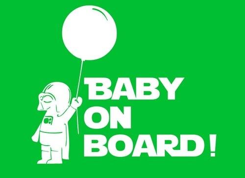 naklejka lord vader baby on board