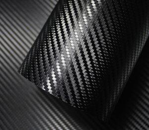 Folia carbon 4d czarna 50cm x 3m