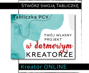 tabliczka kreator online
