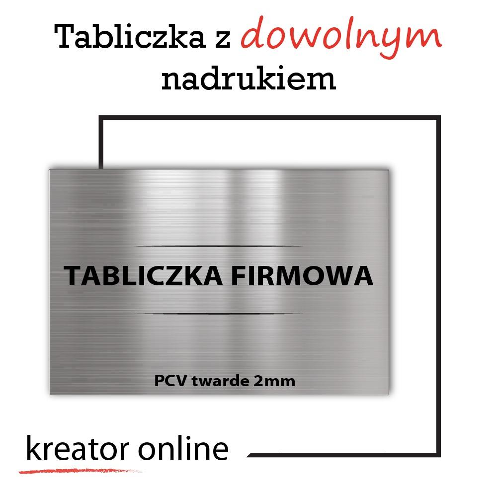 Tabliczka z własnym nadrukiem - PCV 2mm