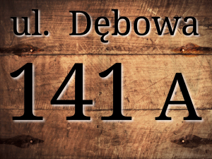 Tabliczka adresowa z numerem domu woodPRINT pcv 30x40