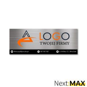 tabliczka firmowa z danymi logo firmy