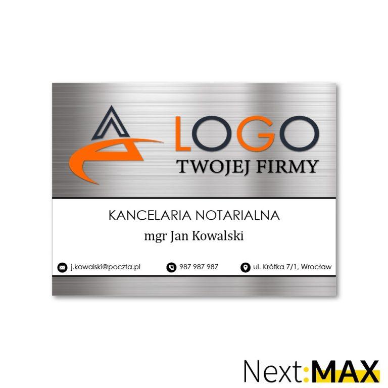 tabliczka firmowa z logo przydrzwiowa