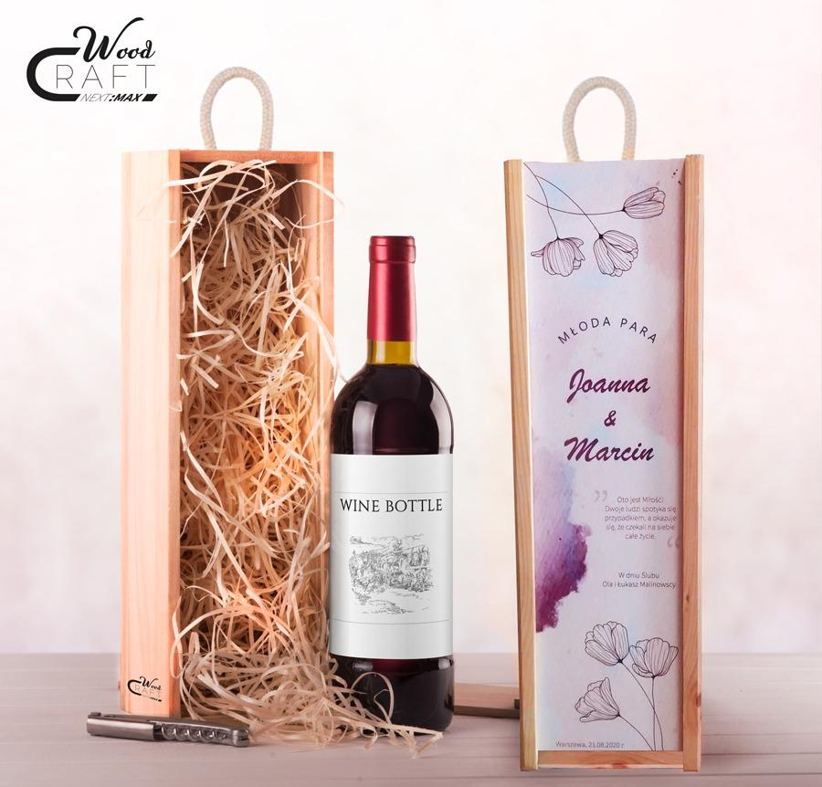 skrzynka na wino dla młodej pary